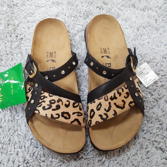 53c126c3beb  Betula Birkenstock  NWT Leopard Print Sandals